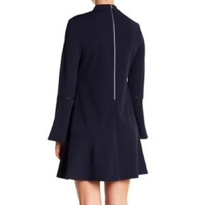 Abs collection navy mock neck dress size 2